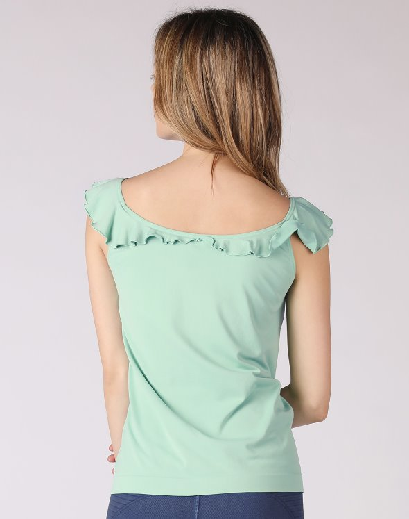 2-way Frill Collar Sleeveless Top(VJ2TS026/MT)