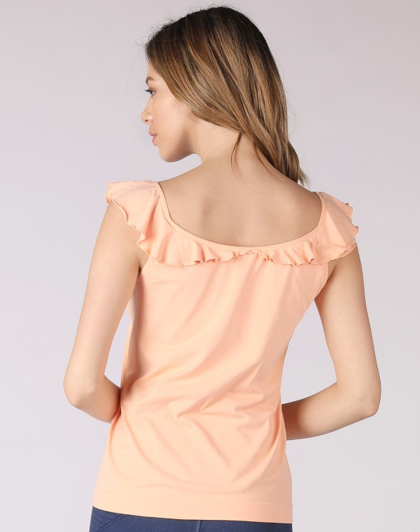 2-way Frill Collar Sleeveless Top(VJ2TS026/CR)