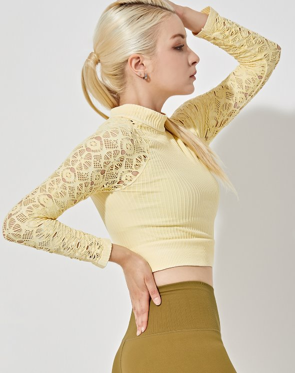Graceful Mock Neck Crop Top (VK2TS416/LY)
