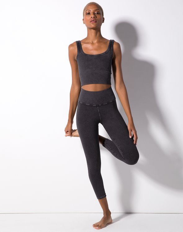 Renee 7/8 Rib Leggings (VK2BO873/BK)